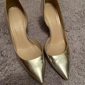 Gold d'orsay heels